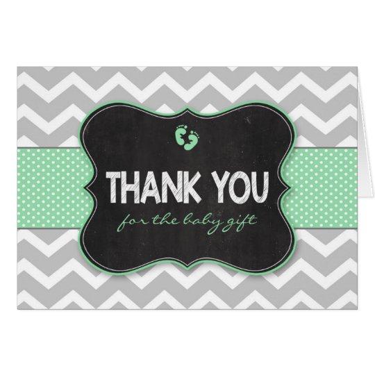 Tadelloses Tafel-Babypartygeschenk danken Ihnen Mitteilungskarte