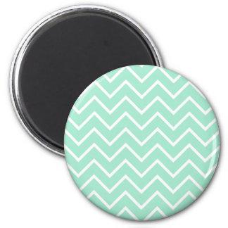 Tadelloses Zickzack Pastellmuster Runder Magnet 5,7 Cm