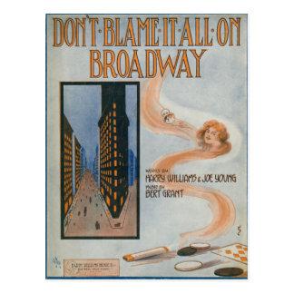 Tadeln Sie es aller nicht auf Broadway Postkarte