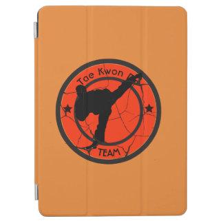 Taekwondo-Silhouette von Taekwondo-Kämpfer iPad Air Hülle