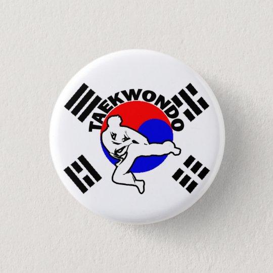 Taekwondo wickelte Knopf ein Runder Button 3,2 Cm