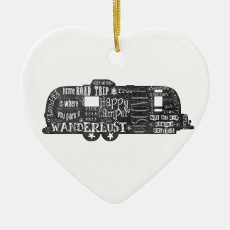 Tafel-Anhänger Keramik Herz-Ornament