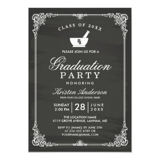 Tafel-Apotheken-SchulAbschluss-Party 12,7 X 17,8 Cm Einladungskarte