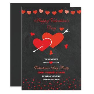 Tafel-Artvalentines-Party-Flyer 12,7 X 17,8 Cm Einladungskarte