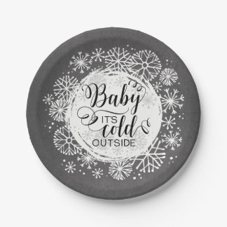 """Tafel-Baby ist es kalte Außenseite 7"""" Pappteller"""