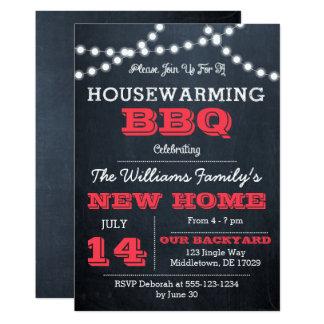 Tafel beleuchtet rote Housewarming-Einladungen 12,7 X 17,8 Cm Einladungskarte