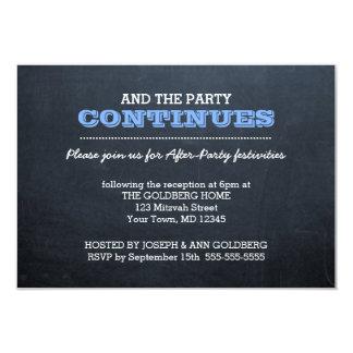 Tafel-Blau nach Party Einladung
