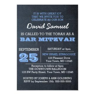 Tafel-blaue Bar Mitzvah Einladung