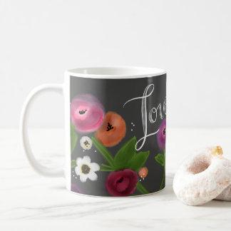 Tafel Blumen-LIEBE Tasse