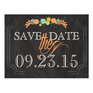 Tafel-Blumen-SAVE THE DATE Wedding Postkarte