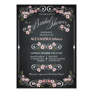 Tafel-BlumenBrautpartyChic Vintag 12,7 X 17,8 Cm Einladungskarte