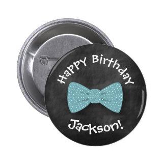 Tafel, Bogen-Krawatten-Geburtstags-KnopfSpecial Runder Button 5,7 Cm