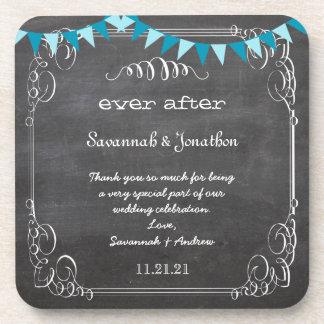 Tafel-Braut u. Bräutigam-Hochzeits-Untersetzer Cocktail Untersetzer