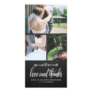Tafel-danken niedliche Herz-Hochzeit Ihnen Karte