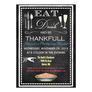 Tafel-Erntedank-Abendessen-Party Einladungen