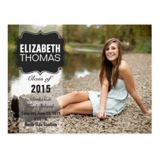 Tafel-Foto-Abschluss-Party-Mitteilung Postkarte
