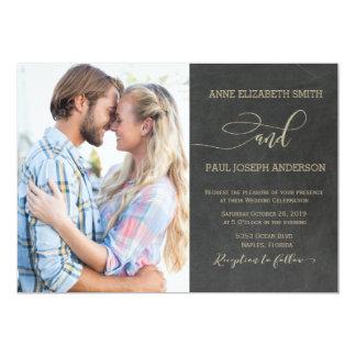 Tafel-Foto Hochzeits-Einladung 12,7 X 17,8 Cm Einladungskarte