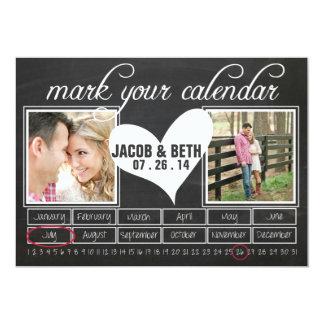 Tafel-Foto-Save the Date Kalender Karte