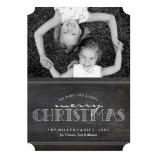 Tafel-frohe Weihnacht-Feiertags-Buchstabe-Karte