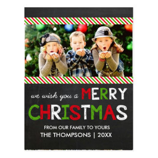 Tafel-frohe Weihnacht-Foto-Gruß-Karte Postkarte