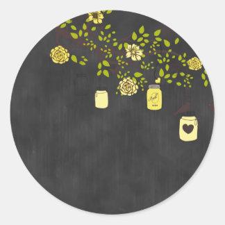 Tafel-gelber Weckglas-Aufkleber Runder Aufkleber