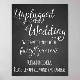 Tafel getrenntes Hochzeits-Druckplakat Poster