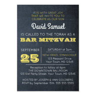 Tafel-goldene Bar Mitzvah Einladung