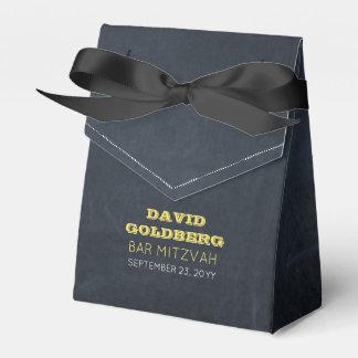 Tafel-goldener Bar Mitzvah Bevorzugungs-Kasten Geschenkschachtel