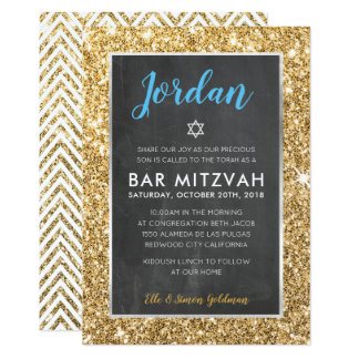 Tafel-GoldGlitter des BAR MITZVAH laden cooler ein Karte