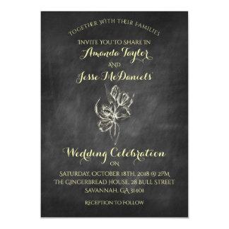 Tafel-Hand zeichnen Tulpe-Hochzeits-Einladungen Karte