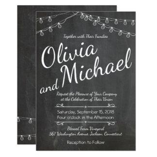 Tafel-Hochzeits-Einladung mit Lichtern Karte