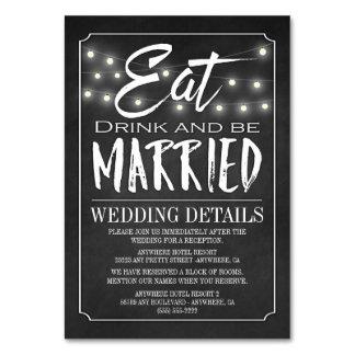 Tafel-Hochzeits-Empfangs-Anpassungs-Karten
