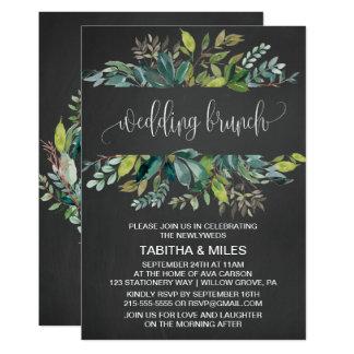 Tafel-Laub-Hochzeits-Brunch Karte