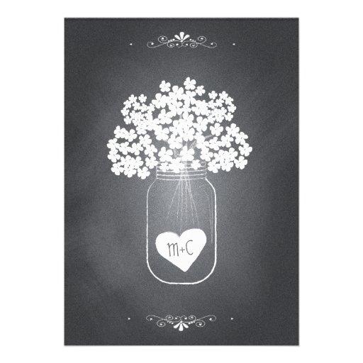 Tafel-Maurer-Glas-Hochzeits-Einladung mit UAWG