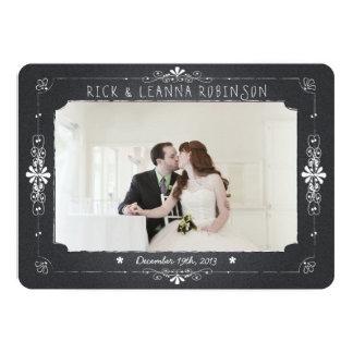 Tafel-Maurer-Glas-Hochzeits-Foto danken Ihnen zu 12,7 X 17,8 Cm Einladungskarte