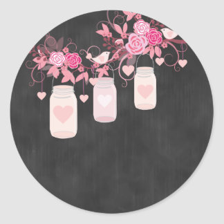 Tafel-rosa Weckglas-Aufkleber Runder Aufkleber