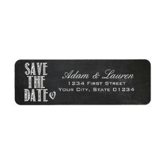 Tafel-Save the Date Adressen-Etiketten Rücksendeetikett