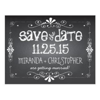 Tafel Save the Date die Postkarte Wedding ist