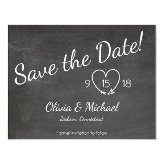 Tafel Save the Date mit Lichtern Karte