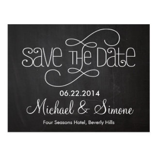 Tafel-Save the Date Postkarte