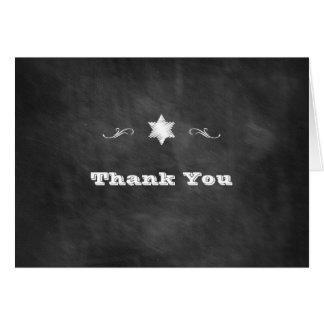 Tafel-Schläger Mitzvah danken Ihnen Karte