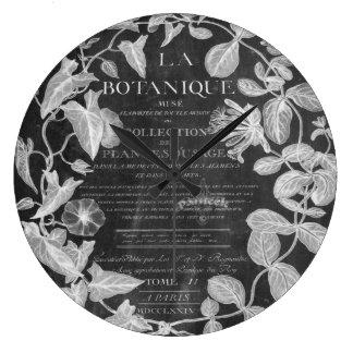 Tafel scripts französisches botanisches große wanduhr