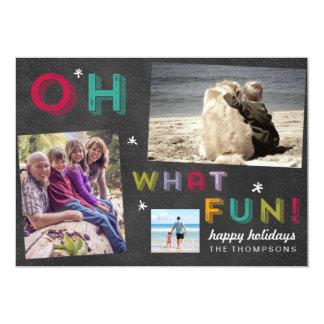 Tafel-Spaß-Feiertags-mehrfache Foto-Karte Karte