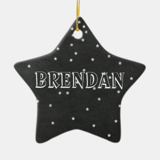 Tafel-Sterne mit Namen-u. Jahr-Verzierung Keramik Stern-Ornament