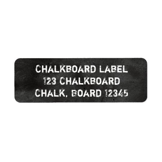 Tafel-Tafel-schwarzes u. weißes staubiges Rücksendeetikett
