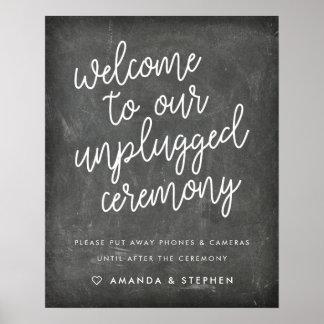 Tafel-Typografie getrennte Hochzeits-Zeremonie Poster