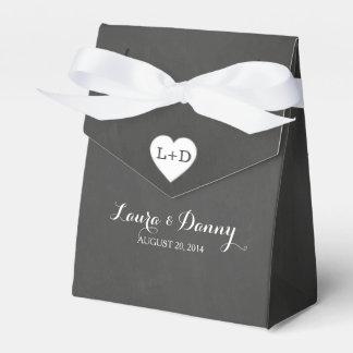 Tafel u. Herz-personalisierter Bevorzugungs-Kasten Geschenkschachteln