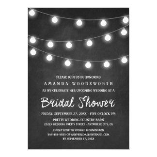 Tafel-und Licht-Brautparty-Einladungen Karte