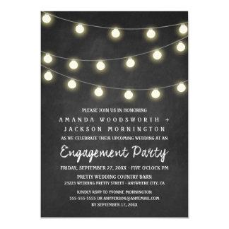 Tafel-und Licht-Verlobungs-Party Einladungen