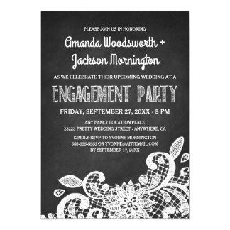 Tafel-und Spitze-Verlobungs-Party Einladungen